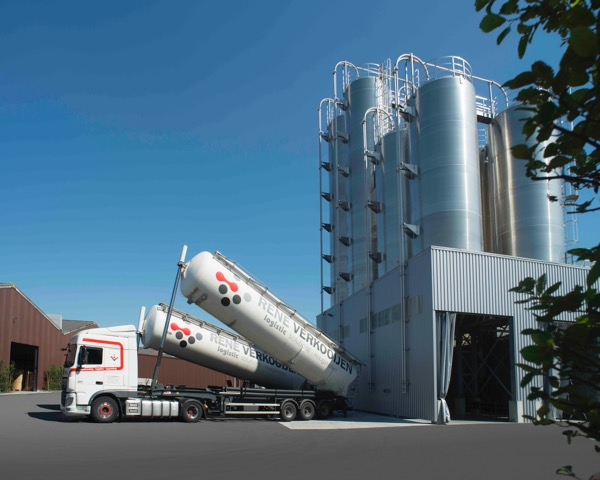 Opslagcapaciteit in silo's 1.100 ton