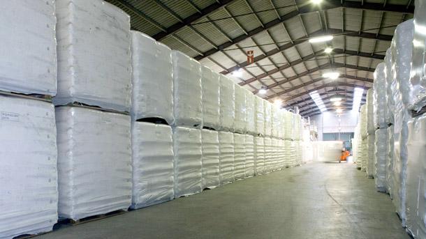 Opslagcapaciteit in magazijnen 90.000 m2